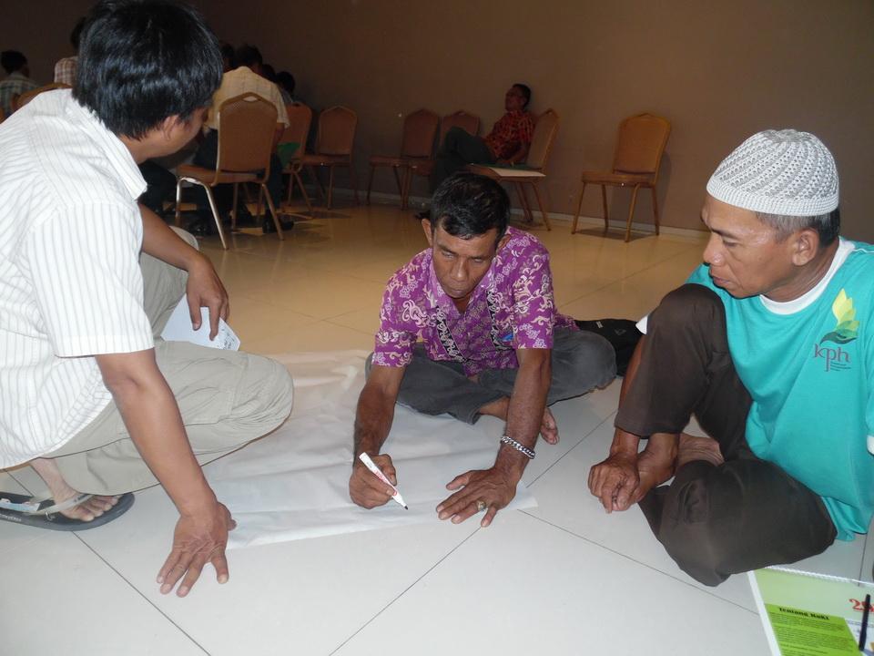 Bapak Ridwan dan team dari Bukit Cogong Musi Rawas