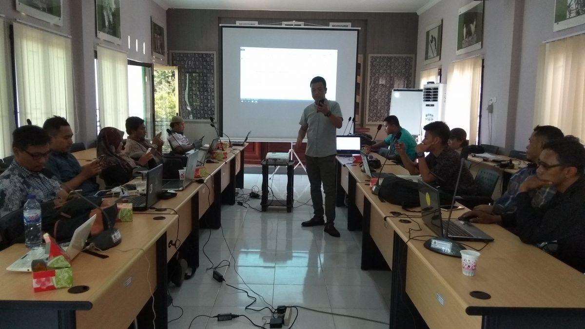 KiBASS Lakukan Pelatihan Web Untuk Staff BTNBS